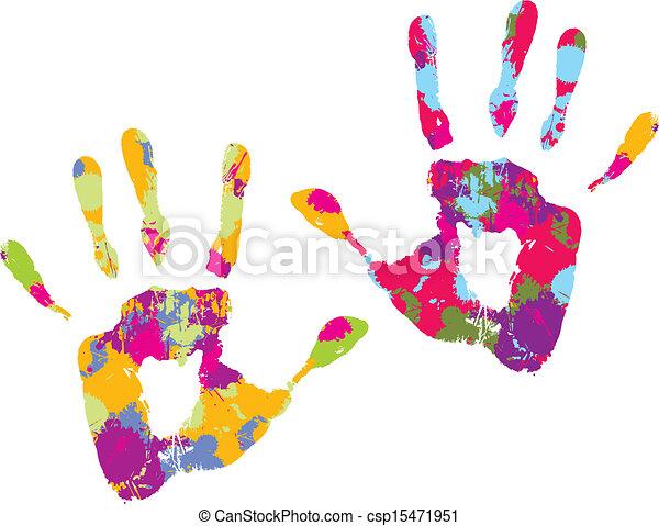 Handprint. Vector illustration - csp15471951