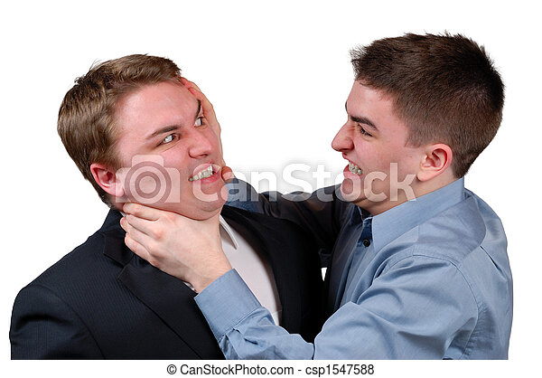 Man Being Strangled - csp1547588