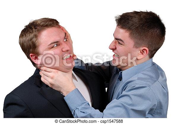 Man Being Strangled - csp1547588