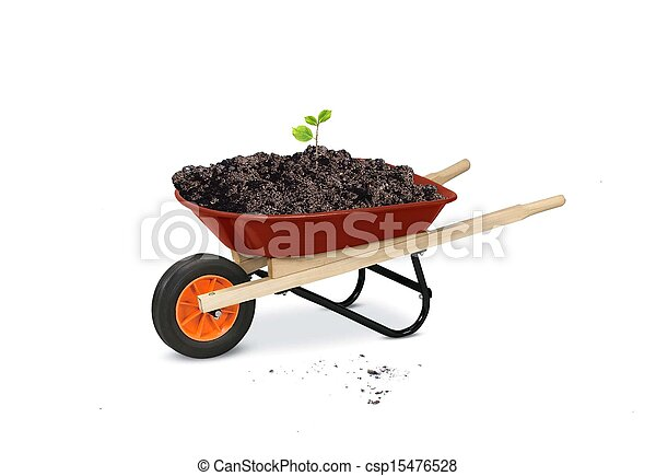 wheelbarrow gardening tools - csp15476528