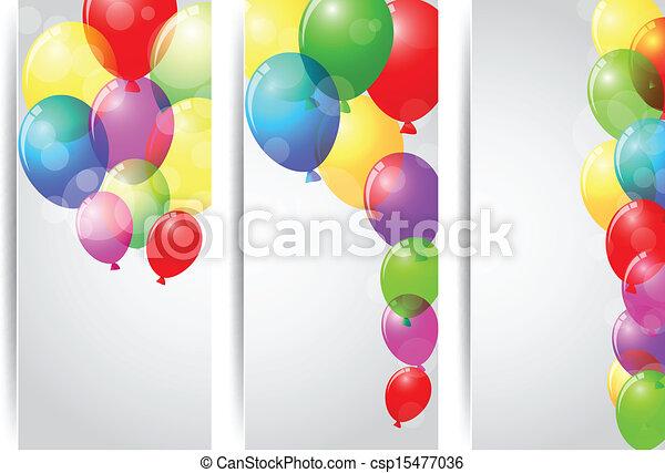 Birthday celebration banner  - csp15477036