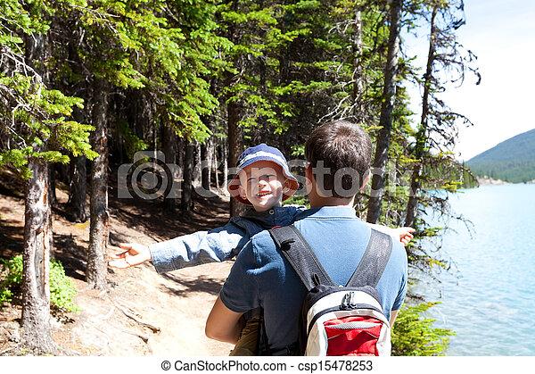 family hiking - csp15478253