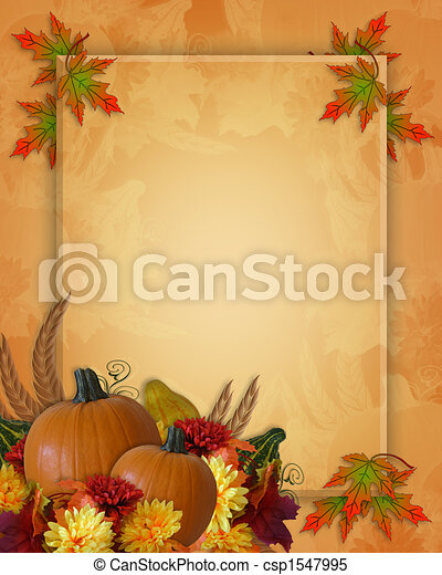 Thanksgiving Autumn Fall Background - csp1547995
