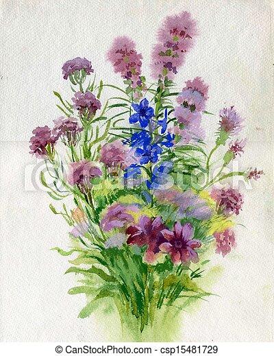 Summer bouquet of flowers