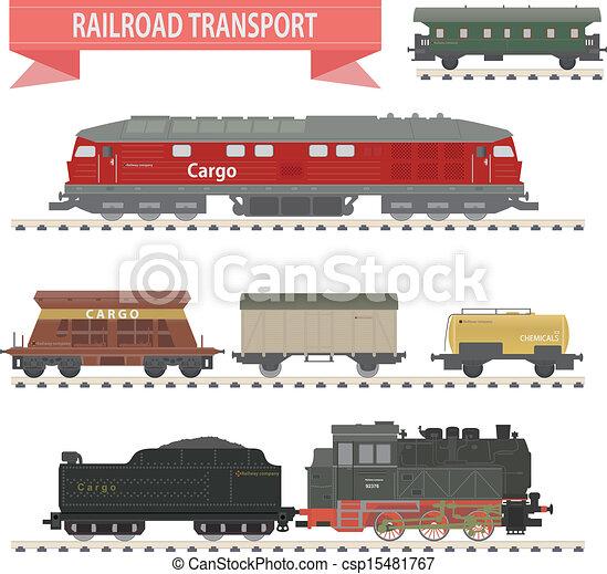Trains. Railroad set - csp15481767