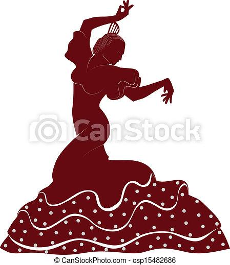 Vecteur de danseur flamenco a typique danseur - Dessin danseuse de flamenco ...