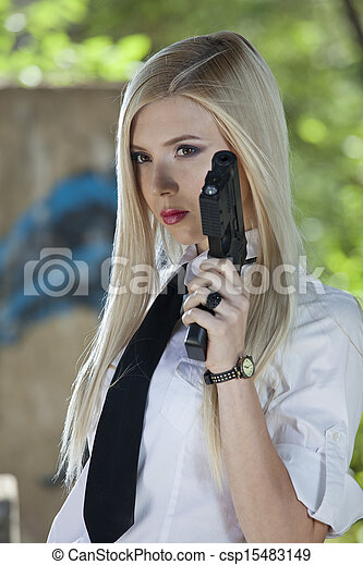 Femme En Cravate photo de femme en cravate