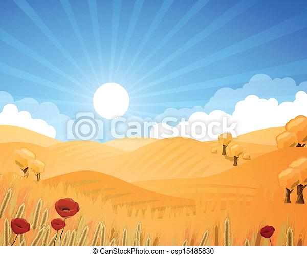 Vector Rural Landscape - csp15485830
