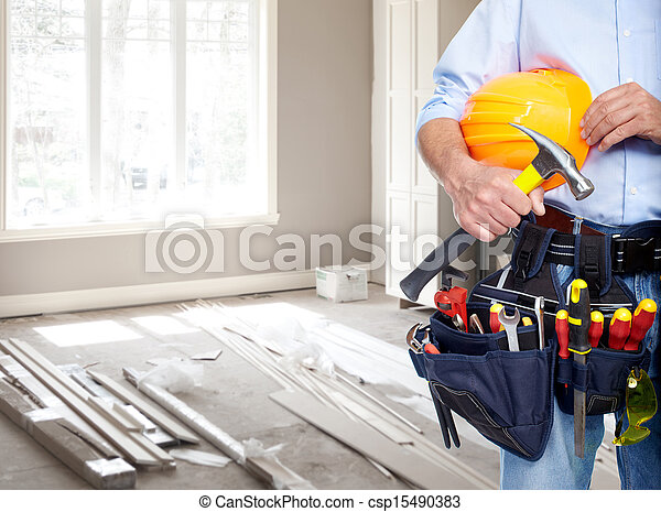 Handyman with a tool belt. - csp15490383