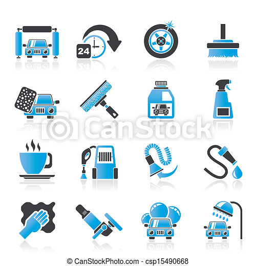 car wash objects and icons - csp15490668