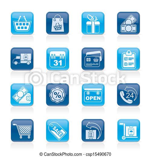 Online shop icons - csp15490670