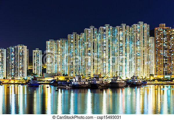 Residential district in Hong Kong - csp15493031