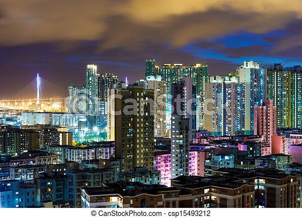 Residential building in Hong Kong - csp15493212