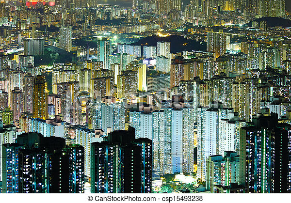 Residential building in Hong Kong - csp15493238