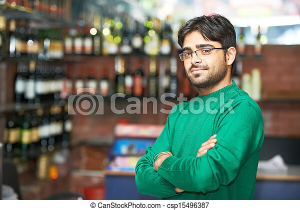 Young adult indian sikh seller man - csp15496387