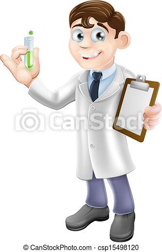 Illustration vecteur de scientifique dessin anim an illustration de a dessin - Coloriage petit scientifique ...