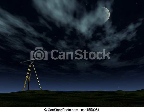 Telescope in the night - csp1550081
