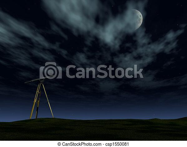 Telescope in the night - csp1550081