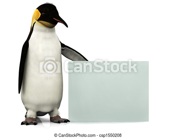Penguin with sign - csp1550208