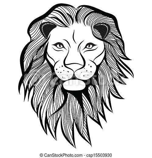 Lion head vector anima...