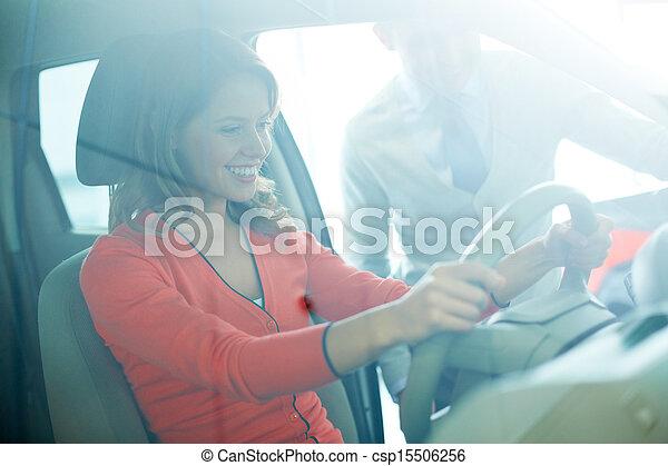 In automobile center - csp15506256