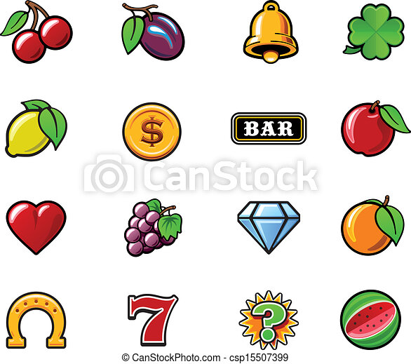 Vector slot machine symbols set - csp15507399