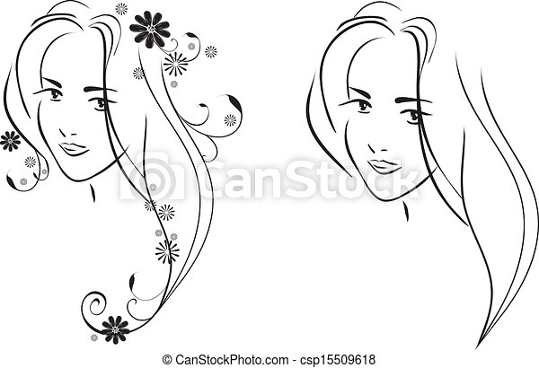 Pretty Face Drawing Face of Young Pretty Girl