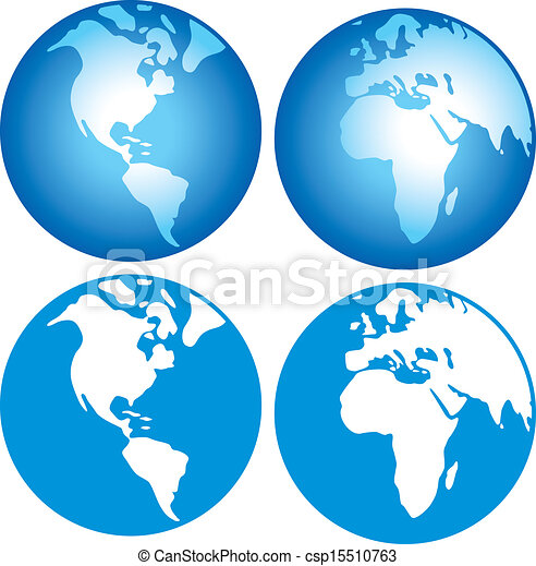 Clip Art Vector of globe icon (globes showing earth with all ...