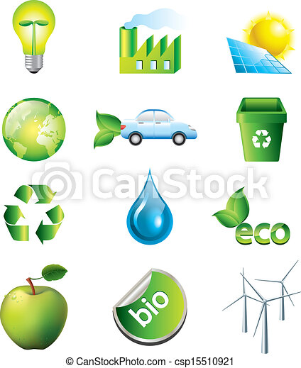 environment and ecology icons set - csp15510921