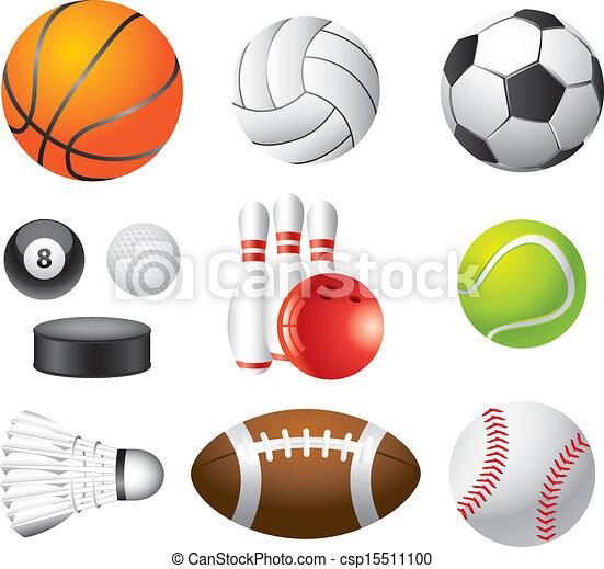 sport balls photo-realistic vector set - csp15511100