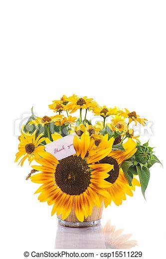 Sunflower Bouquet Clip Art Bouquet of sunflowers and