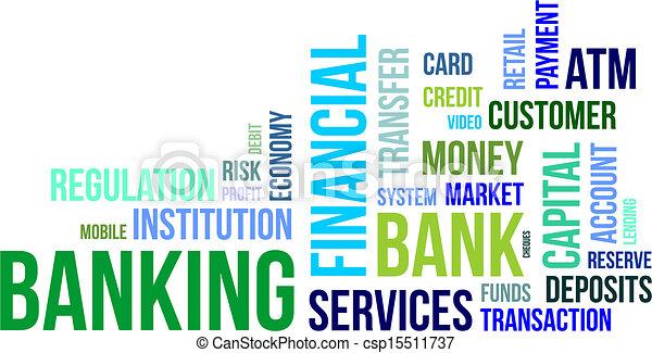 word cloud - banking - csp15511737