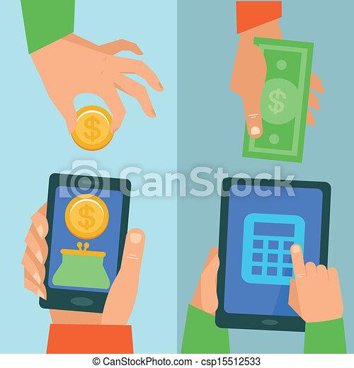 Vector online banking concept - csp15512533