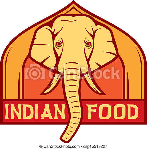 Indian food label design royalty free eps vector for Art of indian cuisine