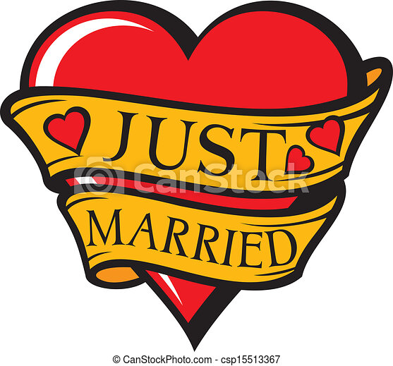 Art Vector of Just married design (heart) csp15513367 - Search Clipart ...