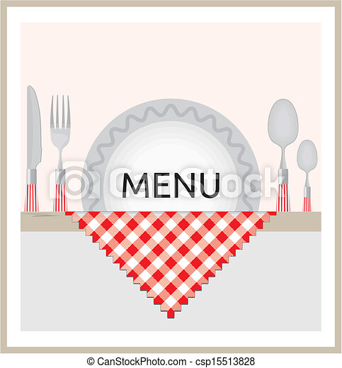 Restaurant menu design - csp15513828
