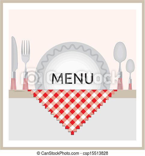 Restaurant menu design - csp15513828