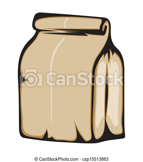 Clip Art Vector of Paper bag csp15513863 - Search Clipart ...
