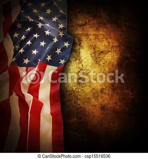 amerikanische, Fahne - csp15516536