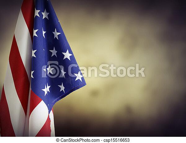 amerikanische, Fahne - csp15516653