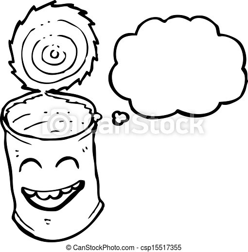 Clipart Vector of canned food cartoon character csp15517355 ...