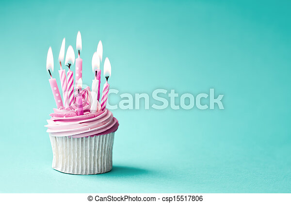 Birthday cupcake - csp15517806