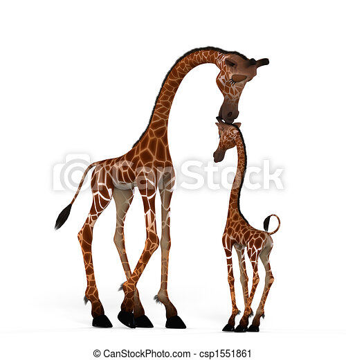 Cute giraffe with a funny face - lovely - csp1551861