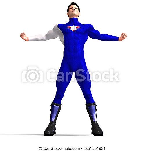 Blue Super Hero - csp1551931