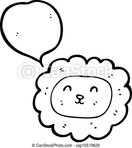 Face Cartoon Cartoon Lion Face Raster