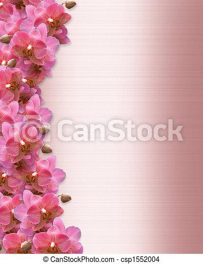 Orchids Border Wedding Invitation - csp1552004