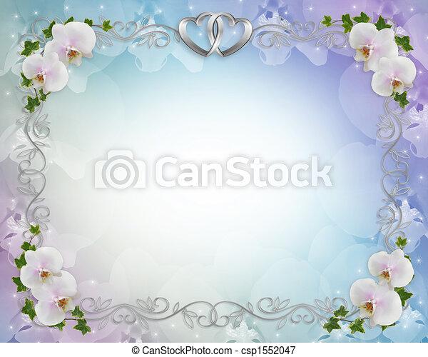 Wedding orchids invitation border - csp1552047