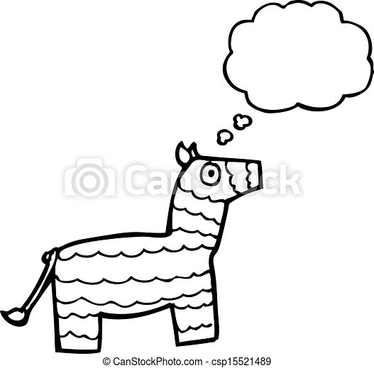 Vector of cartoon pinata with thought bubble csp15521489 - Search ...
