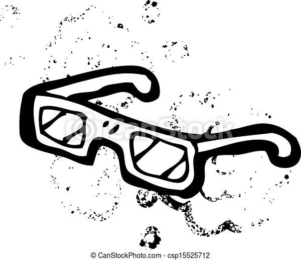 x Ray Line Drawing Vector Cartoon X-ray Specs