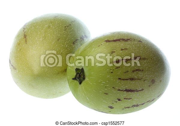 dulce,  (melon, aislado,  pears),  Pepino - csp1552577
